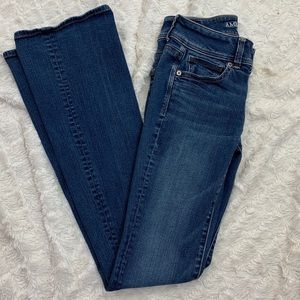 AEO | Super Stretch Kick Boot Jeans | Size 2 Long